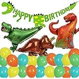 Yansion 35 piezas Dinosaurio Cumpleaños Set de decoración ...