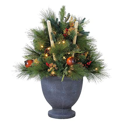 home heritage 32 inch whittier potted christmas tree - Potted Christmas Tree