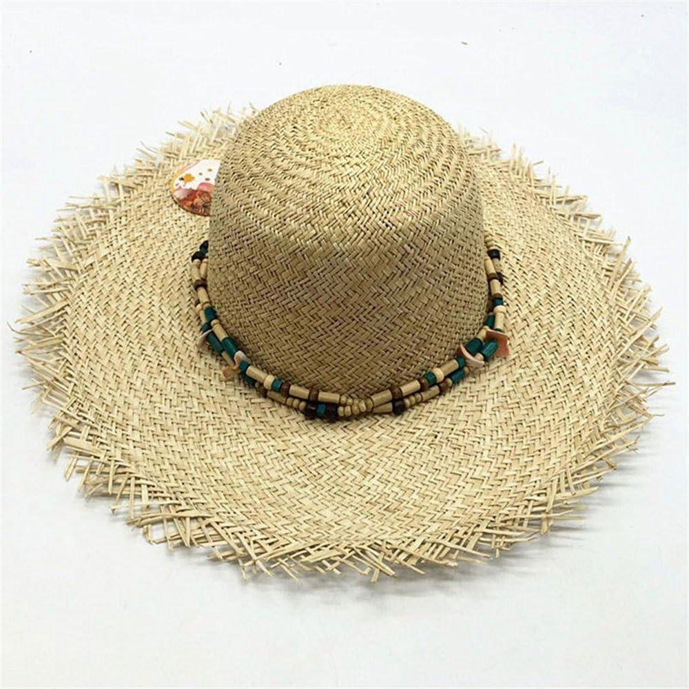 Sombrero de Mujer Sombrero de Playa Mano de Temporada Crochet Sombrero de Sol Sombrero de Playa Sombrero