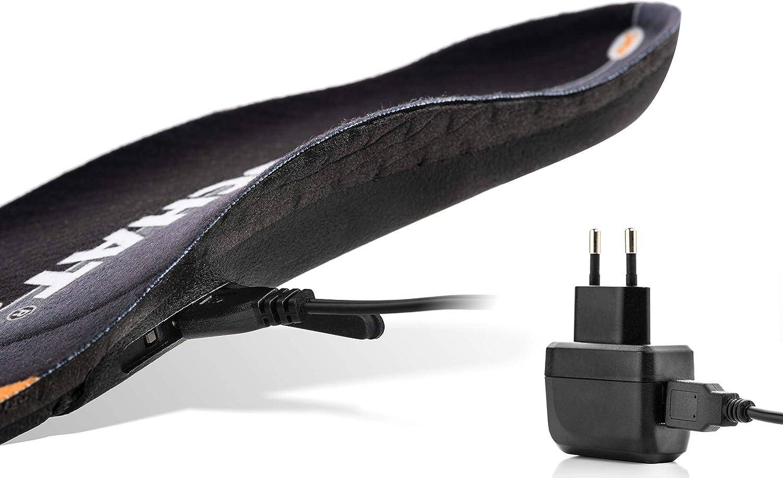 Plantillas calienta pies electrico Recargables BERTSCHAT Plantillas Zapatos calefactables para pies Hombres y Mujeres hasta 14 Horas de duraci/ón de la bater/ía
