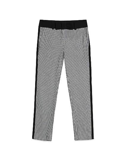 Motivi   Pantaloni a Quadretti Nero 46 (Italian Size)  Amazon.it ... afdcf2fc57ca
