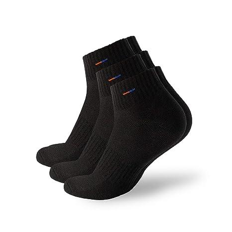 MB52 3 pares Calcetines de deporte calcetines para hombre y mujer, corto Zapatillas unidad Calcetines