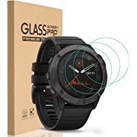HEYUS [3 Pack] for Garmin Fenix 6/6 Pro/6 Solar Screen Protector, 9H Hardness Scratch Resistant Tempered Glass Screen…