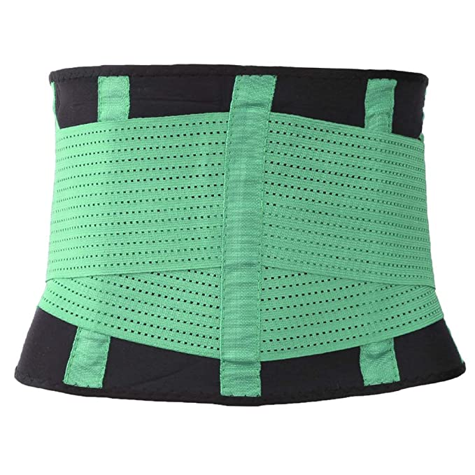 373941145c2 AVITMOS Unisex Waist Trainer Belt Waist Cincher Corset Slimming Belt Latex  Adjustable Sport Girdle at Amazon Women s Clothing store