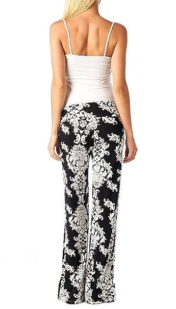 7ca0d494c7 Eastylish Daisy Printing Womens Trousers harem Wide Leg Palazzo Pants Small  Black at Amazon Women's Clothing store: