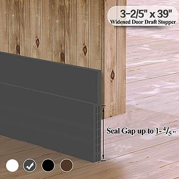 Burlete para puerta, autoadhesivo, cinta de goma, sella e insonoriza, 1 unidades, color blanco y marrón, diseño ancho: Amazon.es: Bricolaje y herramientas