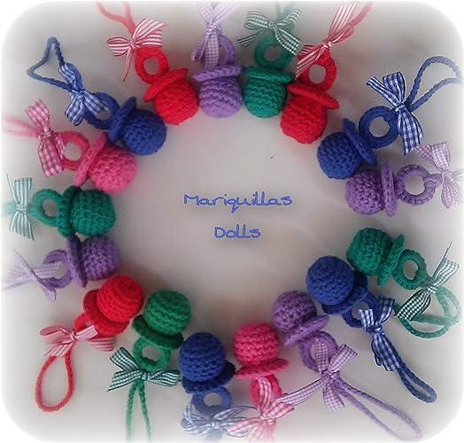 Chupete a crochet. ENVÍO GRATIS a partir de 10 chupetes.: Amazon.es ...