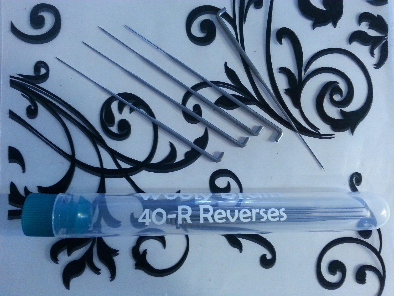 40R Dozen Needle Felting Needles 12 40-Reverses for Fur and Color Blending