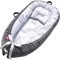 Baby Lounger Baby Nest 100% Soft Breathable Cotton Baby Bed Newborn Lounger Portable Crib Suitable for Newborn Essential…