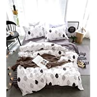 Artistic Quilt Cover Set, 3 Piece Duvet Cover Set Includes 2 Pillowcases, Doona Cover Set M356