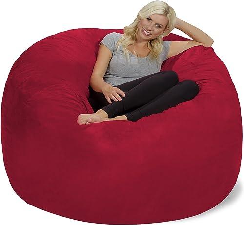 Chill Sack Bean Bag Chair  Giant 6' Memory Foam Furniture Bean Bag