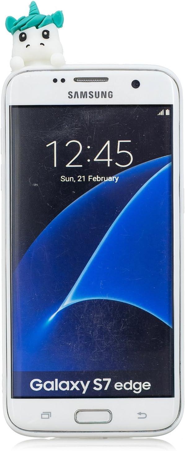 HopMore Funda Samsung Galaxy S7 Edge Silicona Motivo 3D Divertidas Unicornio Panda Bonita TPU Gel Ultrafina Slim Case Antigolpes Cover Protección Dibujo Gracioso Carcasa para Samsung S7 Edge: Amazon.es: Electrónica