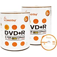 Smart Buy 200 Pack DVD+R 4.7gb 16x Logo Blank Data Video Movie Recordable Disc, 200 Disc 200pk