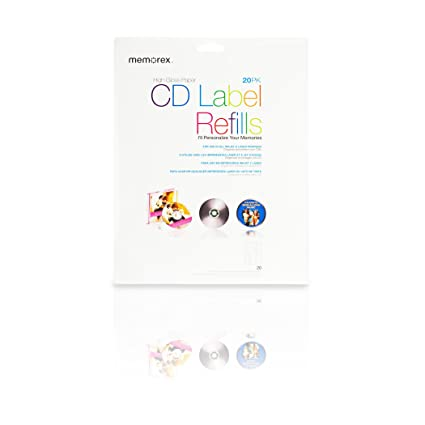 Memorex White CD Labels - Etiquetas de impresora (CD, 20 ...