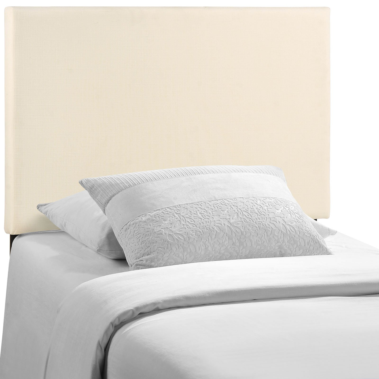 Modway Region Linen Fabric Upholstered Twin Headboard in Ivory by Modway