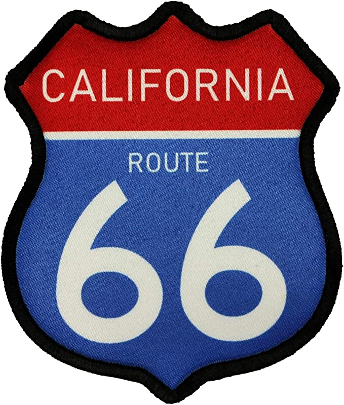 ROUTE 66 HIGHWAY Embroidered Patch  Applique Iron on