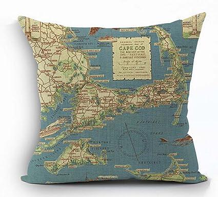 Amazon Cotton Linen Square Decorative Throw Pillow Case Cushion Beauteous Cape Cod Decorative Pillows