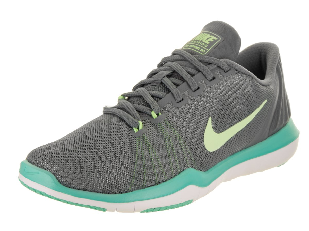 NIKE Women's Flex Supreme TR 5 Cross Training Shoe B01N4GEKLH 9 B(M) US|Cool Grey/Barely Volt/Aurora Green/White