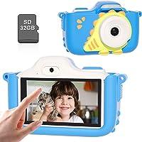 Kriogor Cámara de Fotos para Niños, Cámara Digitale Selfie para Niños con Tarjeta de Memoria Micro SD 32GB,HD 24MP/1080P…