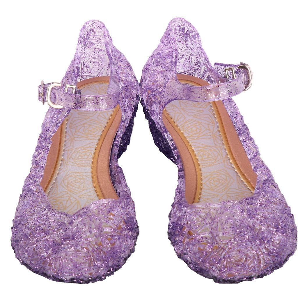 Toddler Kids Baby Girls Wedge Party Single Princess Mary Jane Shoes Sandals