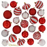 Amazon Price History for:Festive 60 Piece Ball Christmas Ornament Set, Red & Silver
