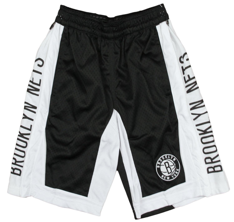 Brooklyn Nets NBA Big Boys Mesh Team Shorts, Black Zipway