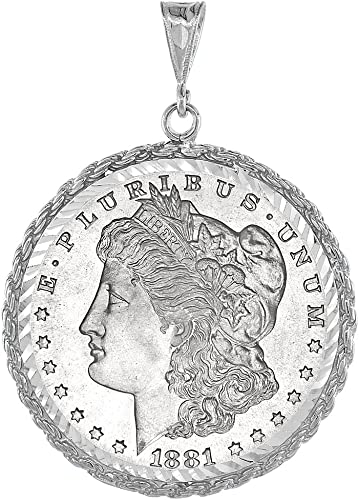 Diamond Cut .925 STERLING SILVER BEZEL for 1 oz SILVER EAGLE 40.6 mm NO RETURNS
