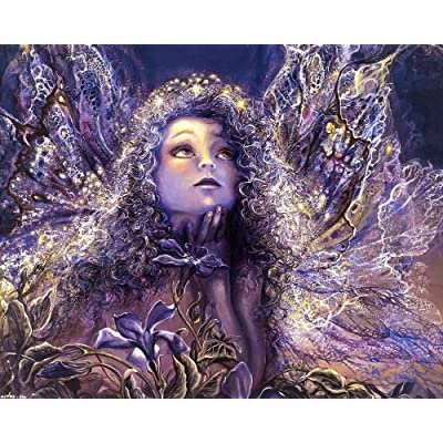 JHWJJ 1000 Pieces Puzzles for Adults Wooden Large Puzzle Photo Personalised Educational Toy Gift -Painting by Josephine Wall: Fairy Fantasy Flower and Girl with Wings: Toys & Games