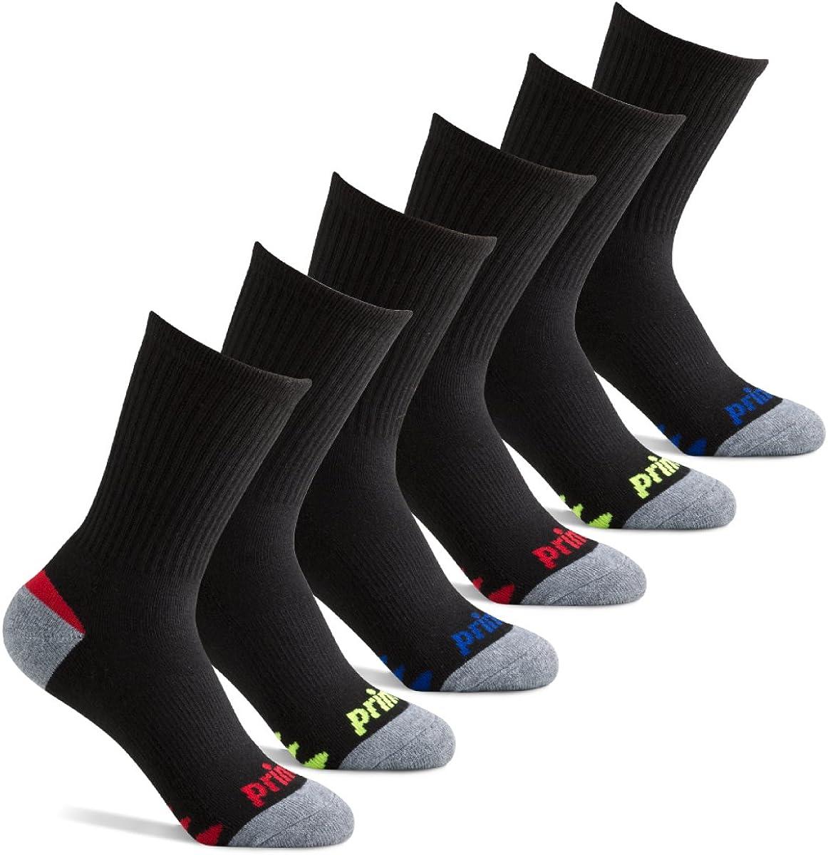 Amazon.com: Prince Boys' Crew Length Athletic Socks with Cushion for Active  Kids: Clothing