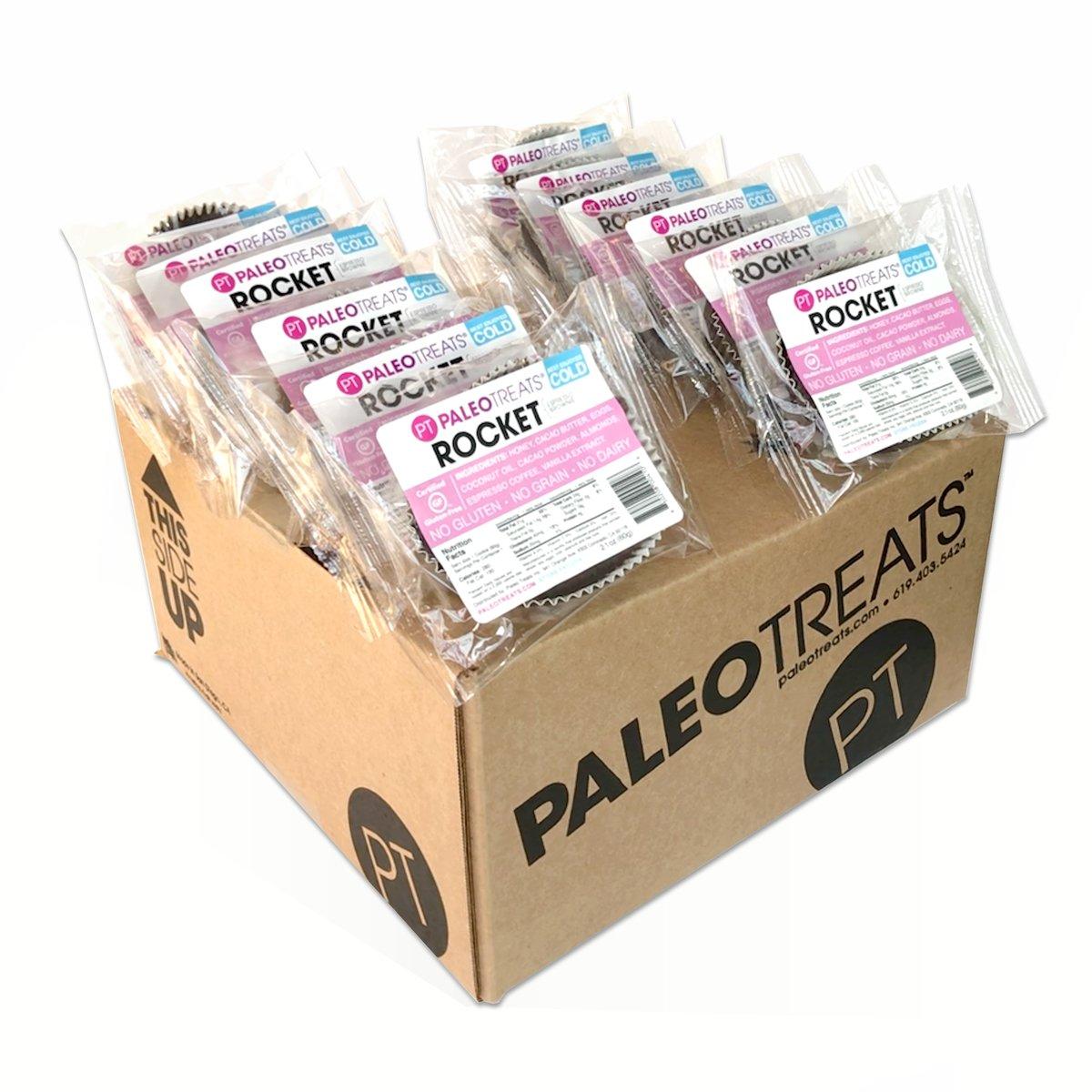 Paleo Treats Rocket: Paleo cookie, Gluten-Free, Grain-Free, Dairy-Free, Soy-Free, Real Food Dessert (Box of 12)