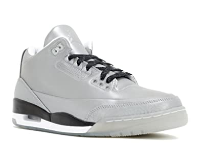 c717dbfcb7a43 Nike Mens Air Jordan 5LAB3 3M Reflective Silver/Black-White Leather  Basketball Shoes Size