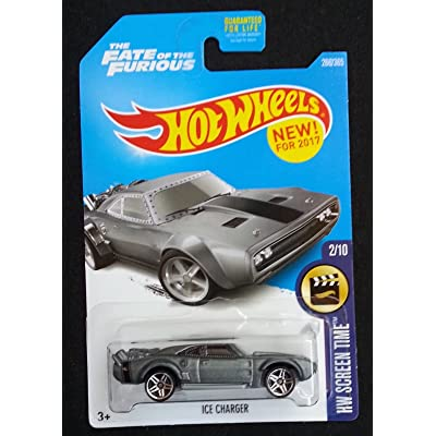 Hot Wheels 2020 HW Screen Time The Fate of the Furious Ice Charger 266/365, Gray: Toys & Games