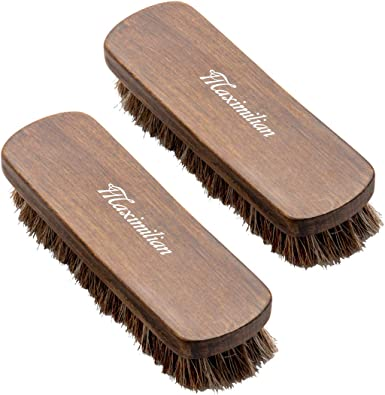Durable Soft Horsehair Shoe Shine Brushes Polish Dauber Boots For Shoes Care