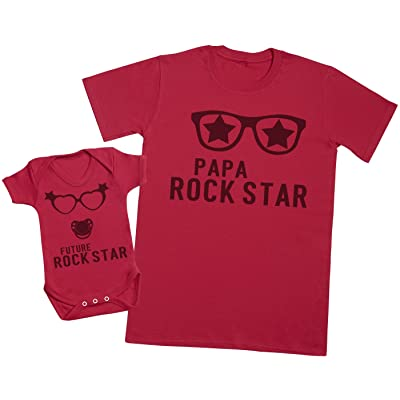 Future Rock Star Fille - Ensemble Père Bébé Cadeau - Hommes T-shirt & Body bébé