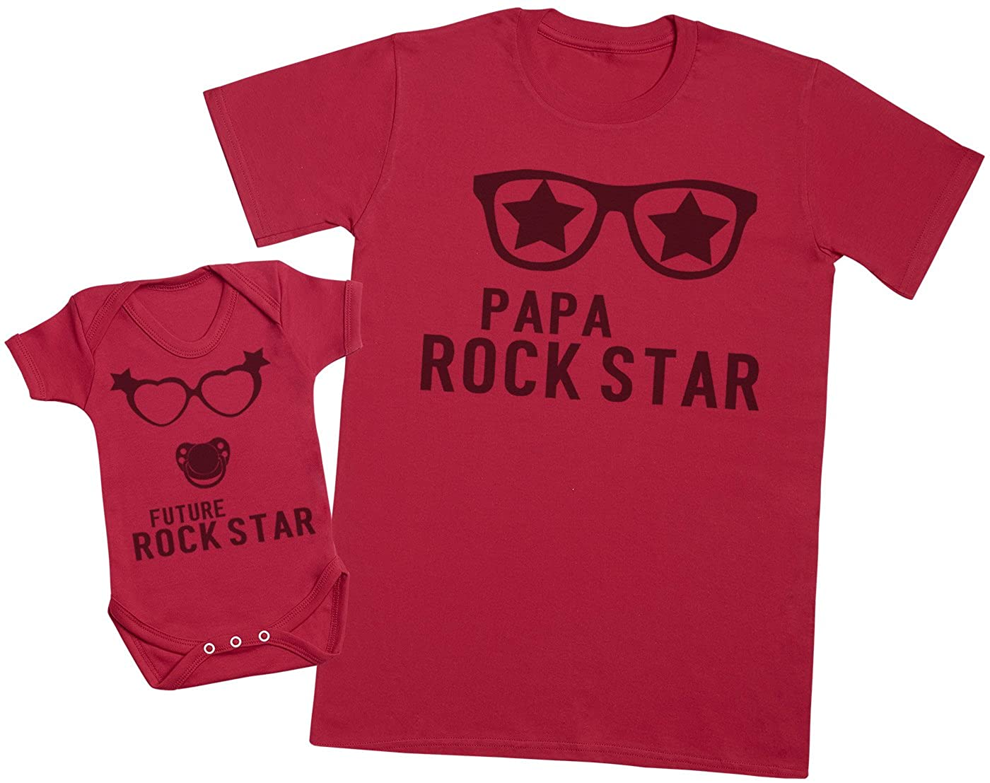 Ensemble P/ère B/éb/é Cadeau Hommes T-Shirt /& Body b/éb/é Future Rock Star Fille