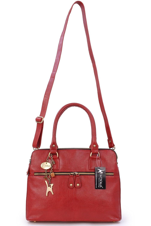 ed563e162bacb ... Catwalk Collection Handbags - Leder - Große Schultertragetasche Umhängetasche  Umhängetasche Umhängetasche Shopper Tote - Handtasche mit ...
