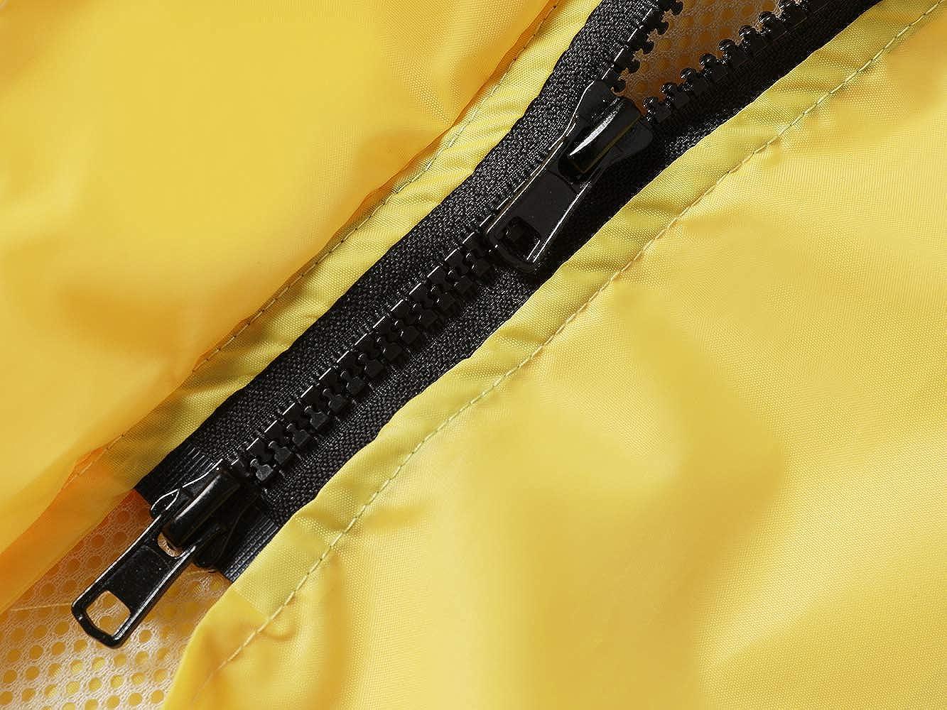 Veste de Pluie Imperm/éable Longue pour Femme Encapuchonn/é Coupe-Vent L/éger