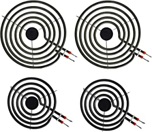 """LXun MP22YA Electric Range Burner Element Unit Set, 4 Pack Included 2 x MP15YA 6"""" and 2 x MP21YA 8"""" Replacement for Kenmore, Hardwick, Whirlpool, Maytag, Jenn Air, Norge Ranges/Stoves"""