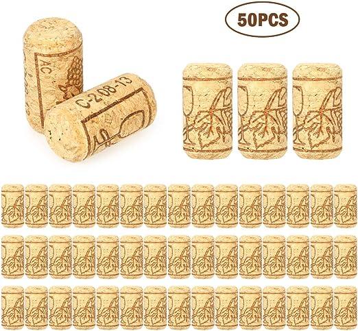 Blusea Botella de Corcho Corchos de Vino 40x21 mm Roble Corcho de Vino para Vino Tinto Hecho en casa Placa de Corcho Placa de dardo Tablero de Dardos Backsplash para Cocina 50 // 100PCS