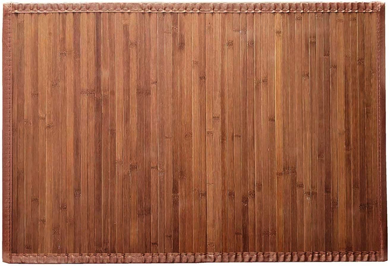 Solagua 8 Modelos 4 Medidas de Alfombra Bambu Antideslizante/Alfombra de Madera Salon, baño, Cocina y Multiusos (60 x 90 cm, Marrón)