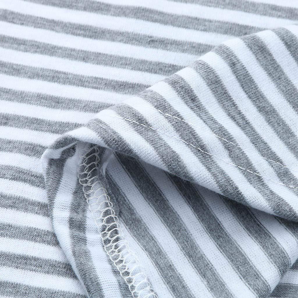 multifunktionales gestreiftes Oberteil f/ür Schwangere Frauen-Mamma-schwangeres Krankenpflege-Baby-Mutterschafts/ärmel gestreifte Blusen-Kleidung /Ärmelloses Amphia