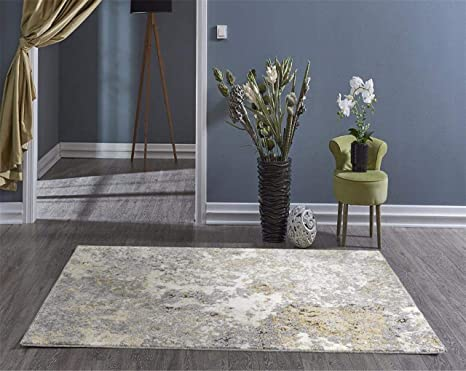 Amazon Com Persian Rugs 6490 Gray 8 X 10 Abstract Modern Area Rug Home Kitchen