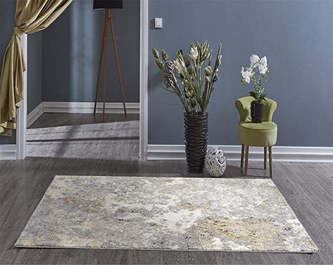 6490 Gray Abstract 5 X 7 Area Rug Carpet Large New Home Kitchen Amazon Com
