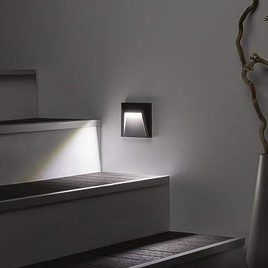 LEDKIA LIGHTING Baliza LED de Superficie Clover IP65 1.5W Gris Blanco Frío 6000K: Amazon.es: Iluminación