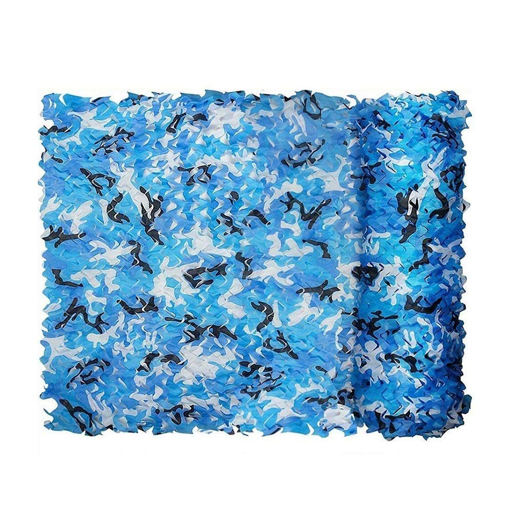 Ocean Camouflage Net Outdoor Pack Intensive Solid Enhancement Interior Decoration Photography Shade Camping Shooting Hunting Party Decoration Air Defense Camouflage Cover (2  3m) (Size   6  8m)