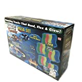 360 Pieces Magic Tracks Car Glow in Dark Racing for Kids Amazing Racetrack with 2 Cars