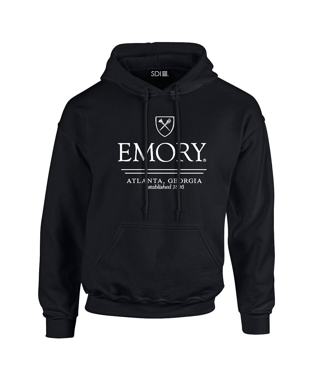 NCAA Emory Eagles Classic Seal Long Sleeve Hoodie Black Small