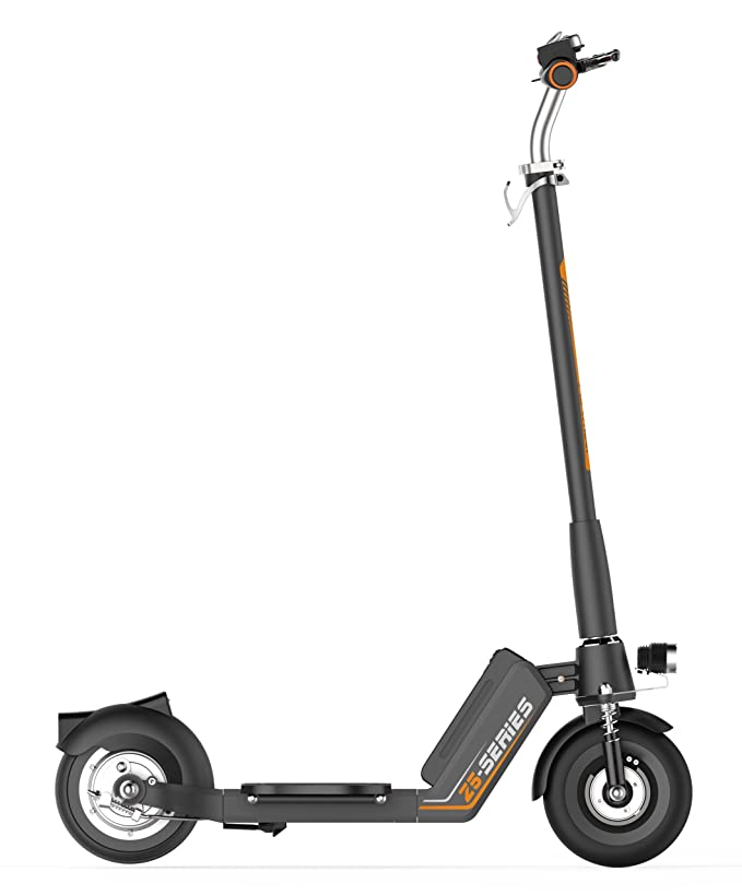 Run & Roll Scoot Z5 Scooter eléctrico, Hombre, Negro/Naranja, 8