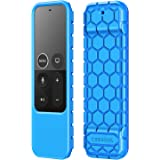 Fintie Protective Case for Apple TV 4K / HD Siri Remote (1st Generation) - Honey Comb Lightweight Anti Slip Shockproof Silico