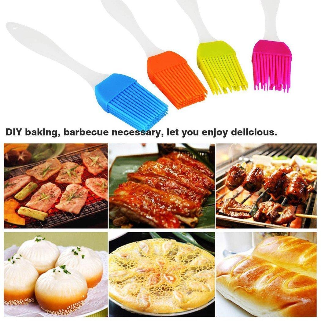4 Pack resistente utensile da cucina e gadget Essential Cooking pennello da cucina //cottura del silicone barbecue spazzole con morbida
